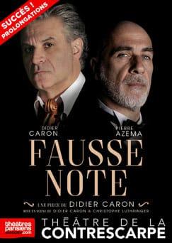 """L'affiche de """"Fausse Note"""" au Théâtre de la Contrescarpe"""
