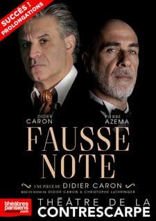 """""""Fausse Note"""" au Théâtre de la Contrescarpe, l'affiche"""