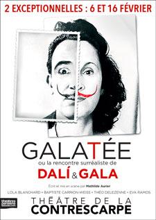 """""""Galatée ou la rencontre surréaliste de Dali et Gala"""" au Théâtre de la Contrescarpe"""