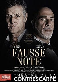 """Affiche de """"Fausse Note"""" au Théâtre de la Contrescarpe"""