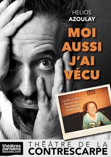 """Hélios Azoulay dans son spectacle """"Moi aussi j'ai vécu"""" au Théâtre de la Contrescarpe en janvier et février 2020"""